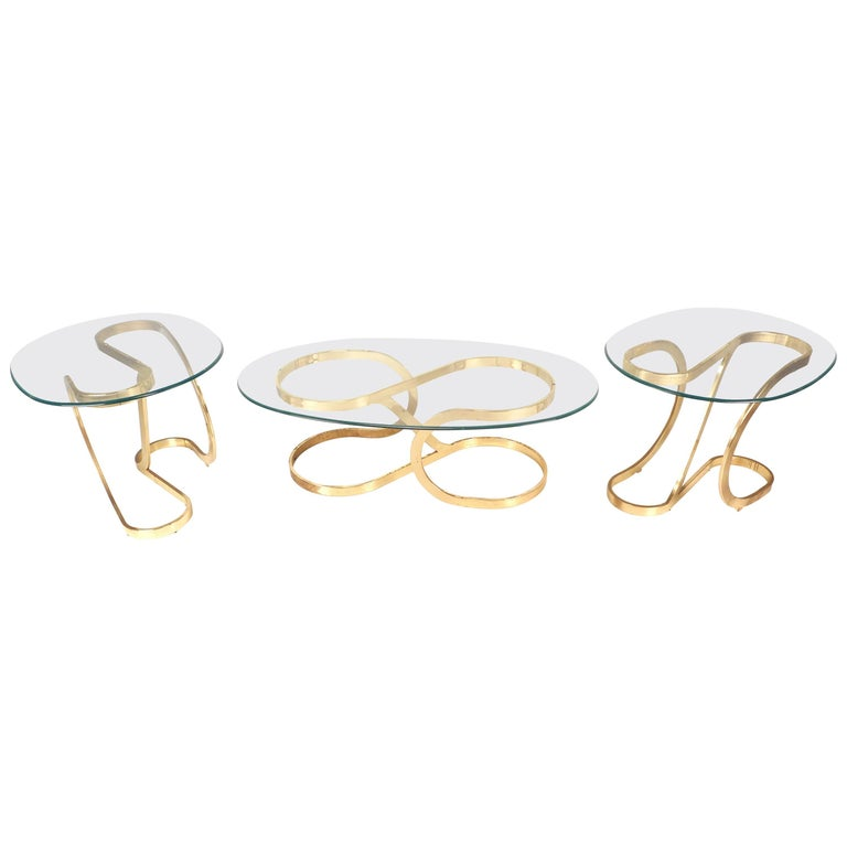 Mid-Century Modern Coffee and End Table Set For Sale