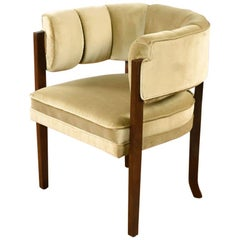 Larry Laslo for Directional Club Chair in New Gold Velvet Upholstery