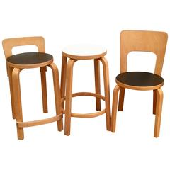 Set of Three Alvar Aalto Seats