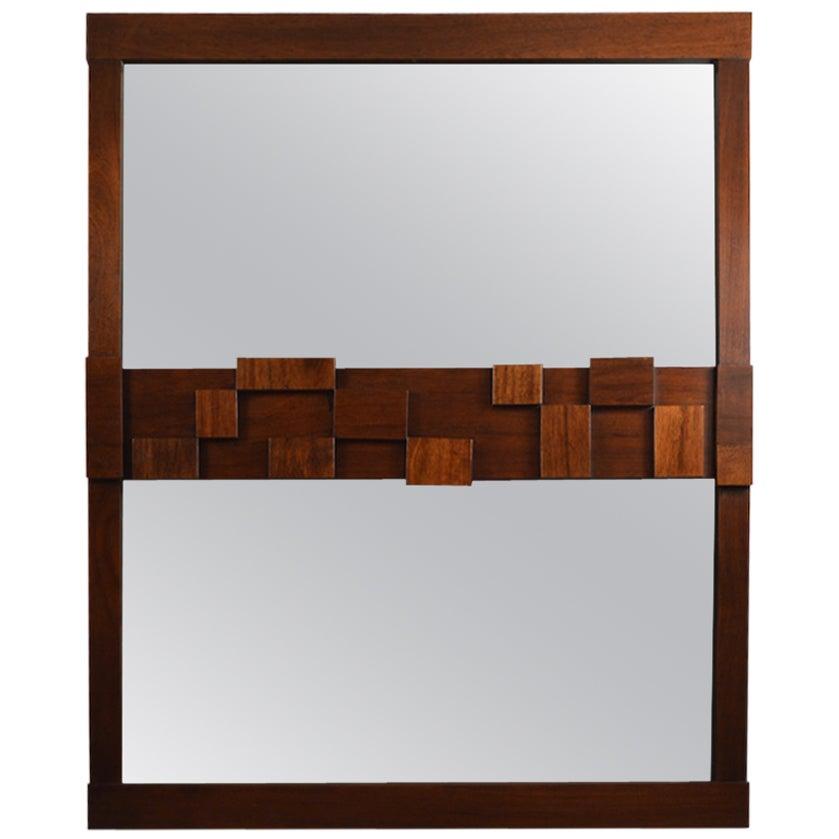 Large Lane Mosaic Pattern Brutalist Mirror