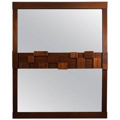 Large Lane Mosaic Pattern Brutalist Mirror
