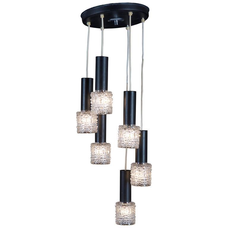 Mid-Century Cascading Ceiling Lamp