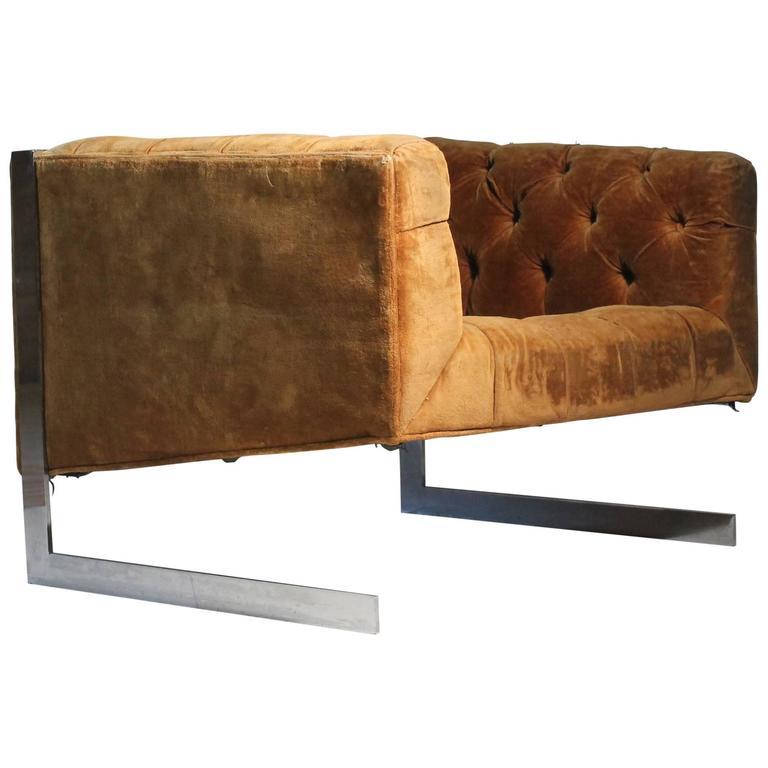 Milo Baughman Cantilever Lounge Chair