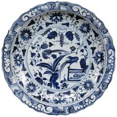 Monumental Chinese Blue and White Porcelain Charger