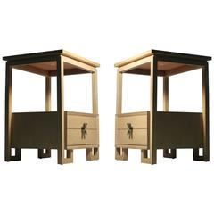 Pair of Paul Frankl Nightstands or End Tables