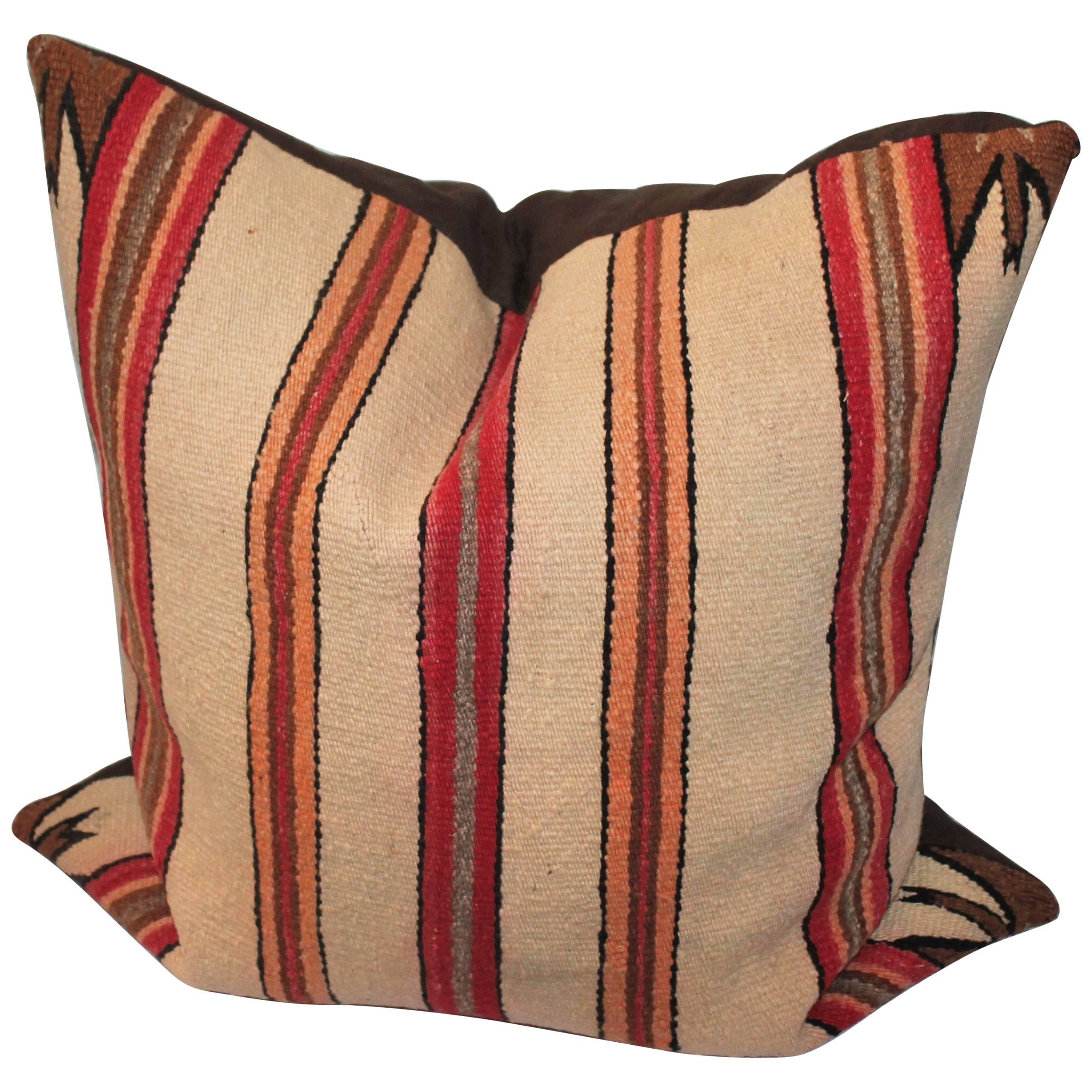 Monumental Early Navajo Saddle Blanket Weaving