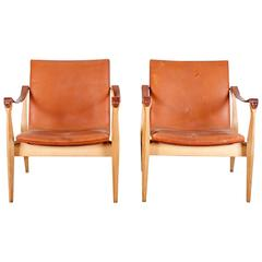 Mid-Century Modern Safari Chairs by Ebbe & Karen Clemmensen
