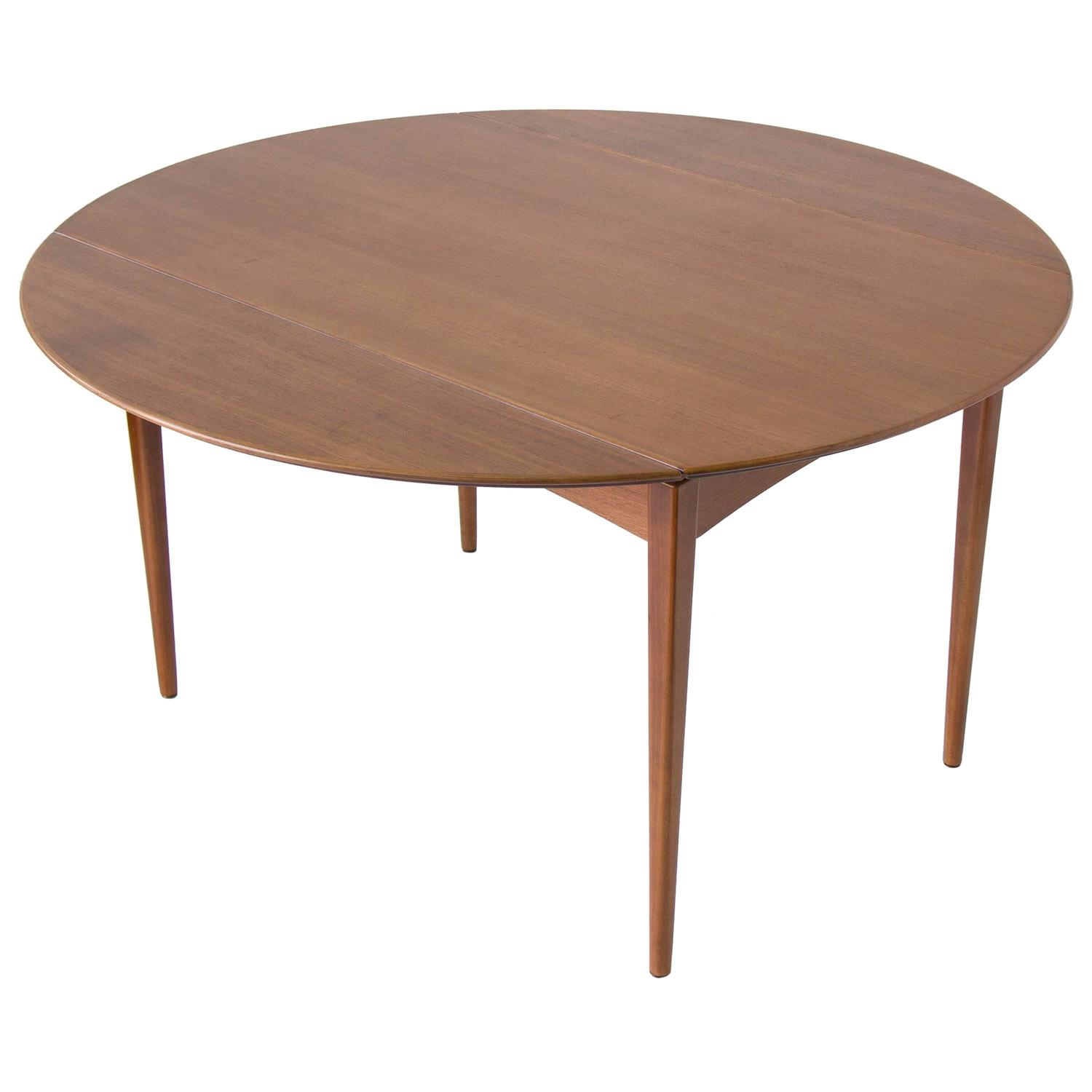 Drop leaf dux dining table at 1stdibs for Drop leaf dining table