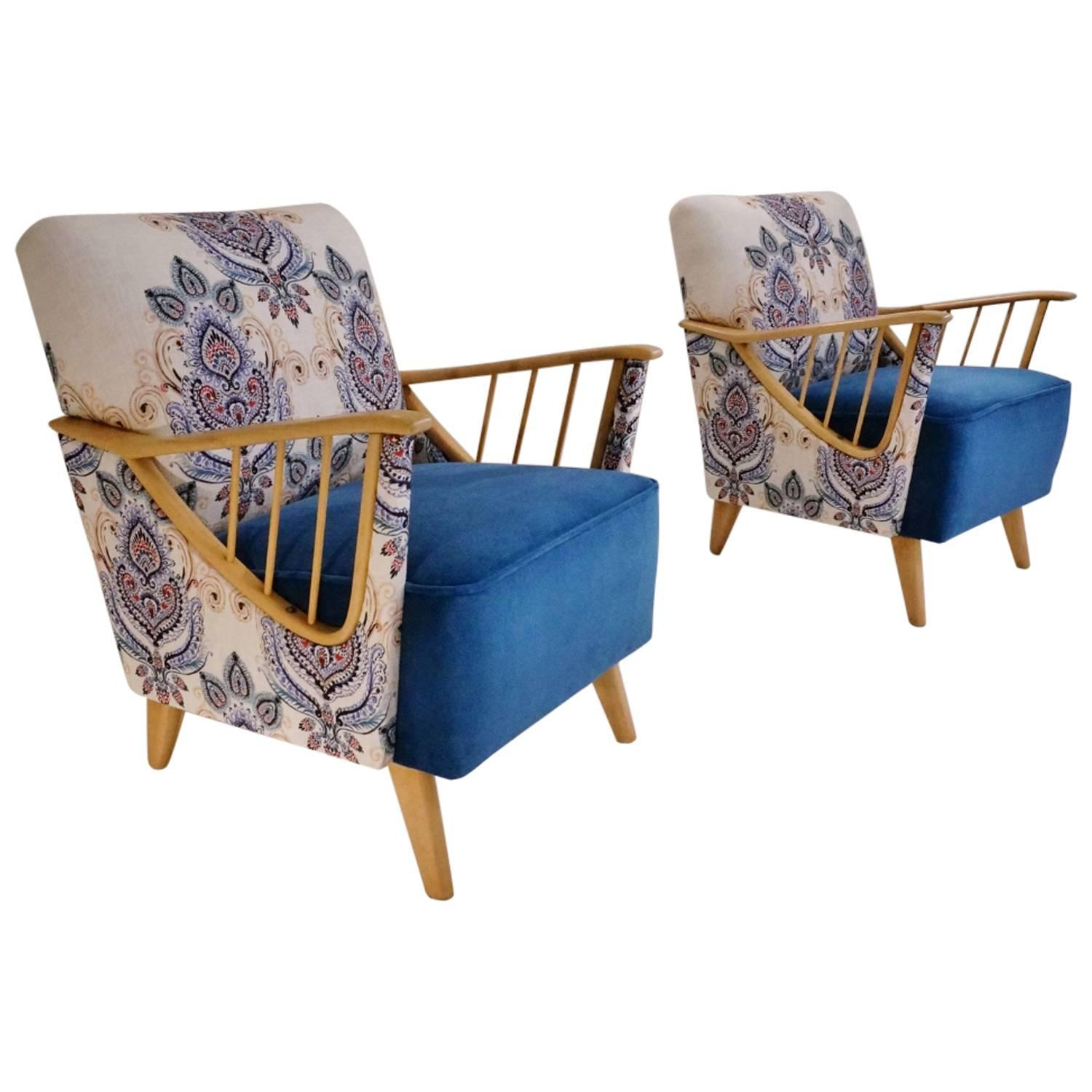 Ercol Windsor Armchairs, a Pair, Newly Upholstered, circa ...
