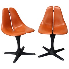 Pair of Maurice Burke Tulip Style Pedestal Chairs