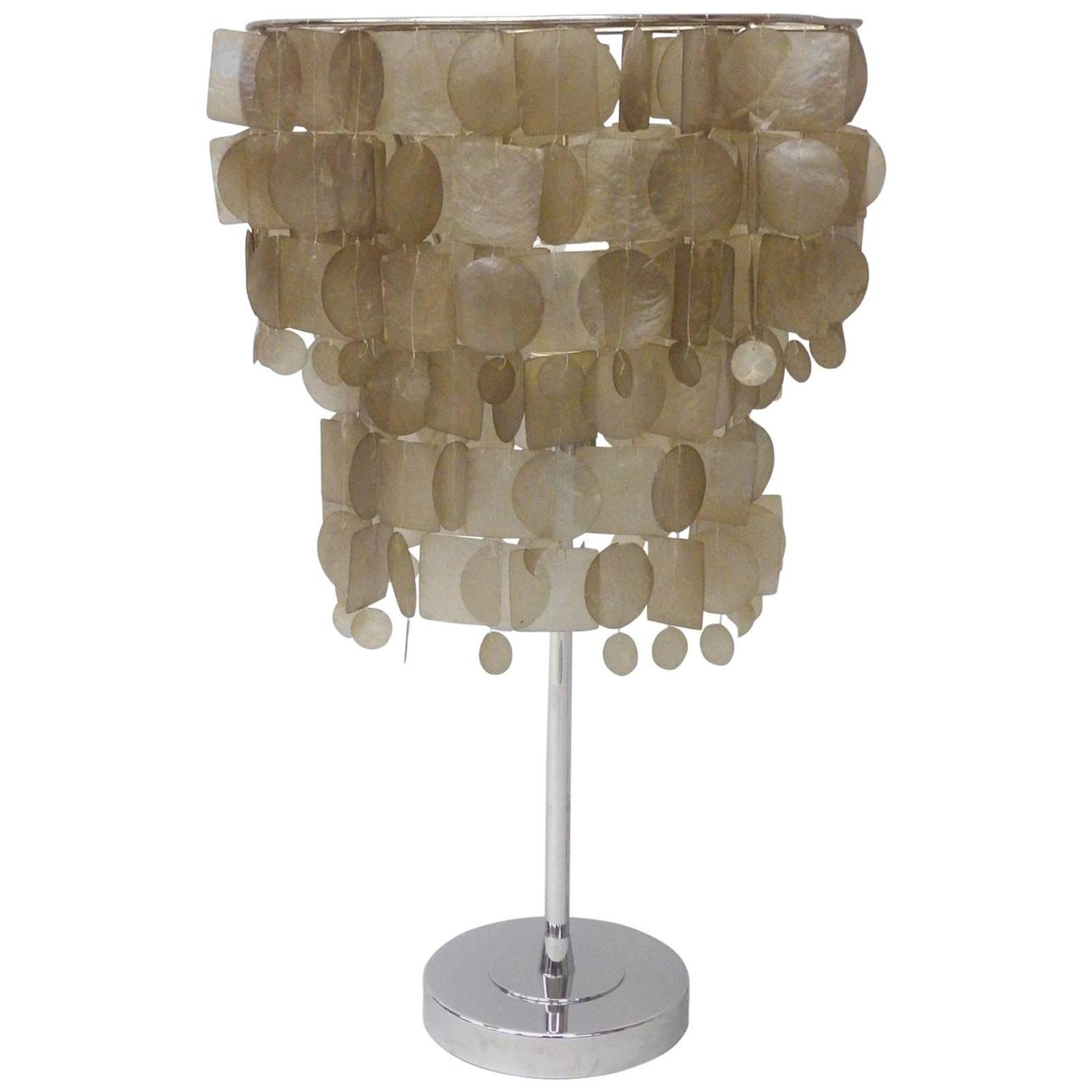 Verner Panton Style Capiz Shell Table Lamp For Sale At 1stdibs