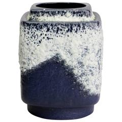 Mid-Century Modern Blue and White Square Vase by Dümler & Breiden, West Germany