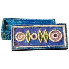 Rare Jewel-Toned Mid-Century Covered Box, Italy