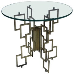 Interlocking Brass Side Table