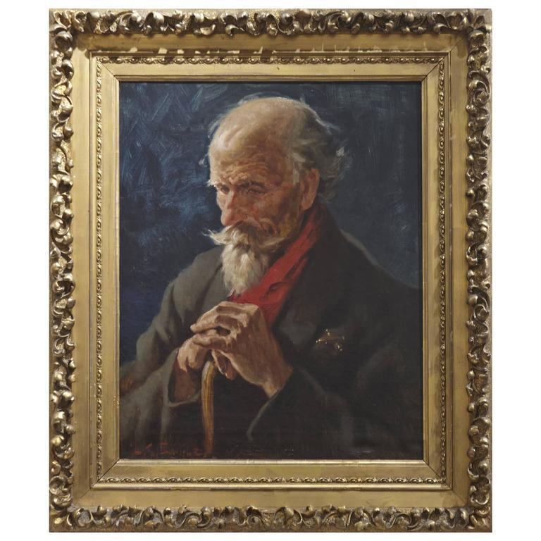 Portrait of Pensive Gentleman by Lawrence Carmichael Earle