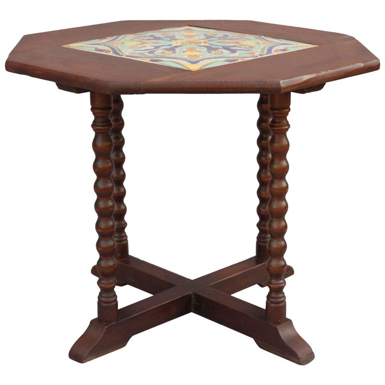 1920s California Tile Table For