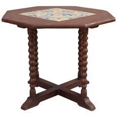 1920s California Tile Table