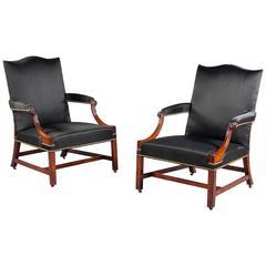 Pair of George III Gainsborough Chairs