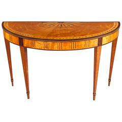 Irish Satinwood Side Table