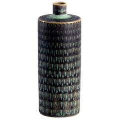 Unique Stoneware Cabinet Vase with Textured Surface by Stig Lindberg, 1958