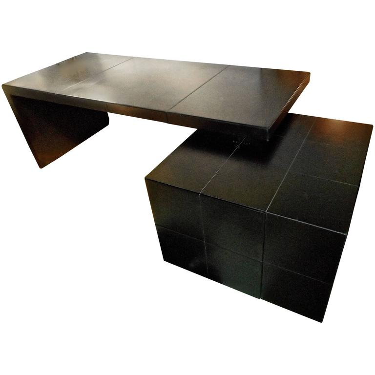 Luxurious Leather Desk by Massimo and Lella Vignelli for Poltrona ...