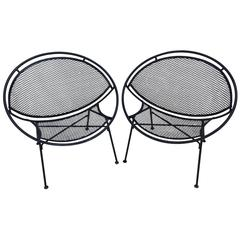 Pair of Maurizio Tempestini Clamshell Chairs for Salterini