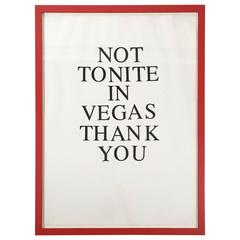 Not Tonite in Vegas Print by Jeffrey Teuton