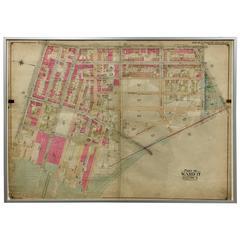 Rare 1916 Map of Fort Greene Brooklyn 'Brooklyn Map #4'