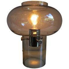 Mid-Century Glass Table Lamp Possibly Swedish