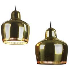 Golden Bell Pendant by Alvar Aalto for Artek