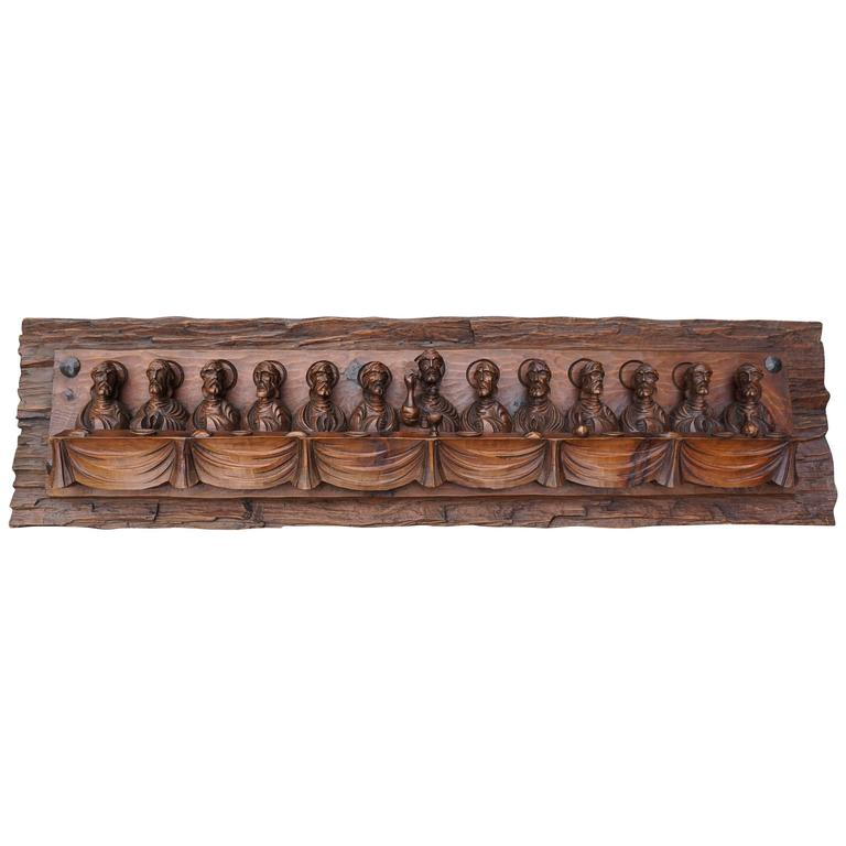 Wood Carving Representing the Last Supper