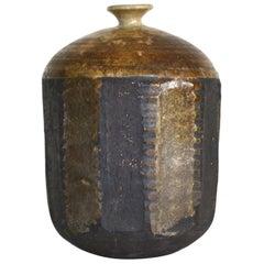 Midcentury Hand Thrown Jar Form Ceramic Vase