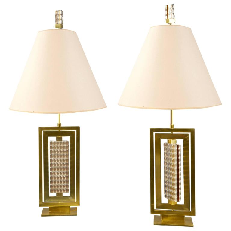 Pair of Lamps by Roberto Rida, Italy, Contemporary For Sale