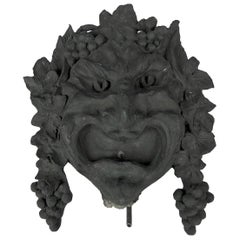 Bronze Bacchanalian Fountain Head Wall Sculpture by Marie Zimmermann circa 1915