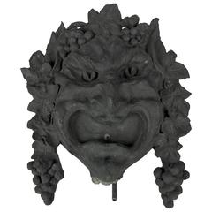 Marie Zimmermann Bacchus Fountain Mask Cast by Roman Bronze Works, circa 1915