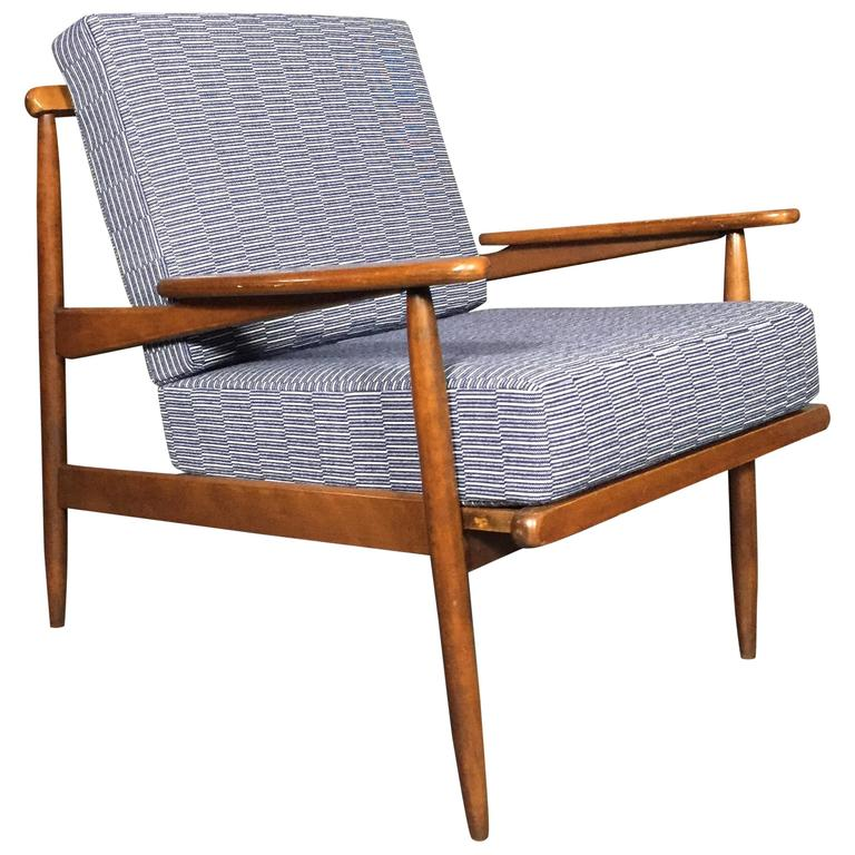 1950s American Modern Walnut Lounge Chair, Eleanor Pritchard Cover For Sale