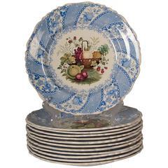 19th Century, William Smith & Co. Wedgewood 12 Dinner Plates