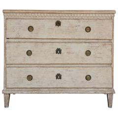 Swedish Gustavian Period Painted Chest, 19th Century Antique