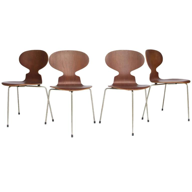 1952, Arne Jacobsen, Original early set Ant Chairs