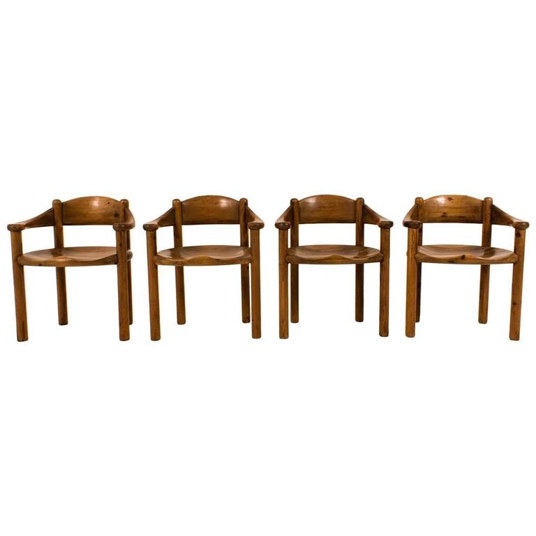 Set of Four Mid-Century Modern Armchairs by Rainer Daumiller, 1970s