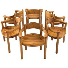 Beautiful Rainer Daumiller Set Of Six Dining Chairs In Solid Pine