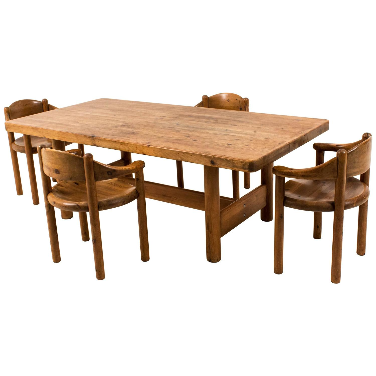 Large Modern Dining Room Tables: Rare And Large Mid-Century Modern Dining Room Table By Rainer Daumiller, 1970s For Sale At 1stdibs