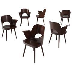 Oswald Haerdtl Set of Six Armchairs for Thonet