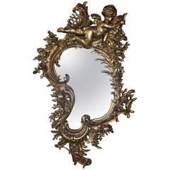 19th Century Gold Gilded Rococo Mirror