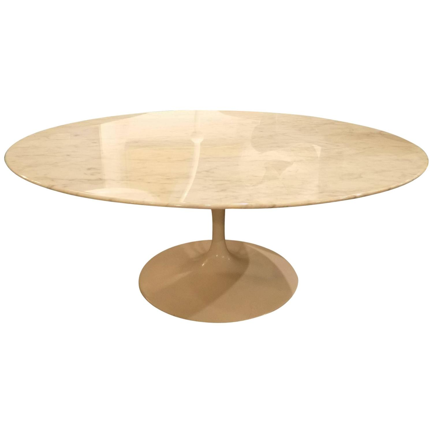 Marble Top Saarinen Coffee Table At 1stdibs