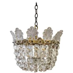 Small Lobmeyr Basket Chandelier