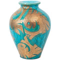 Cazaux Ceramic Vase Turquoise and Green
