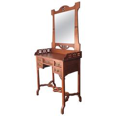 Early 20th Century Dressing Chest and Mirror, Vanity Table Art Noveau
