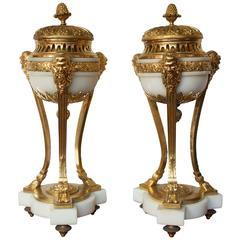 Pair of Early 19th Century French Incense Burners Louis XVI Style