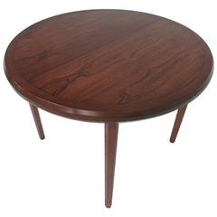 Mid-Century Circular Rosewood Dining Table with Three Leaves by John Stuart